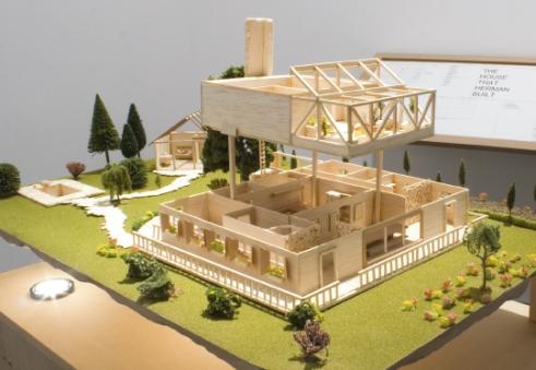 Miniaturmodell des Traumhauses von Herman Wallace
